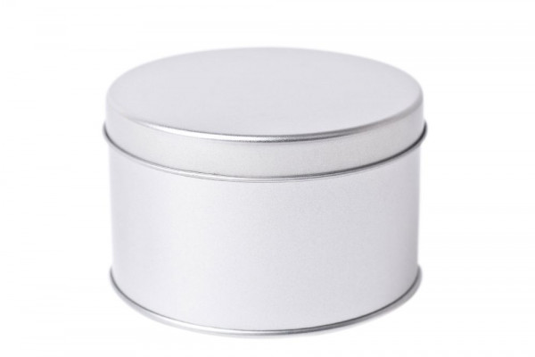 Boite ronde en fer-blanc