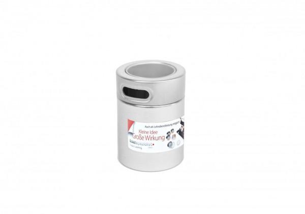 Boite métallique à épices avec étiquette adhésive